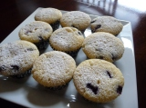 Lemon Blueberry Cupcakes with Cream Cheese Middles
